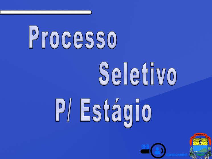 Processos Seletivo Estágio 001/2020
