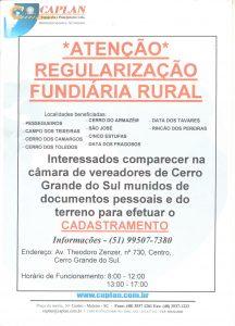 [ATENÇÃO] Regularização Fundiária Rural